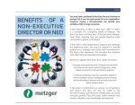 The Benefits of a Non-Executive Director